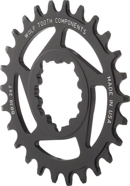 Wolftooth Direct Mount Chainring for Sram interface - 0mm Offset - CHOOSE TOOTH COUNT