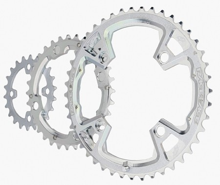 Truvativ 9speed 22-32-44 tooth chainring set- 94/58bcd triple