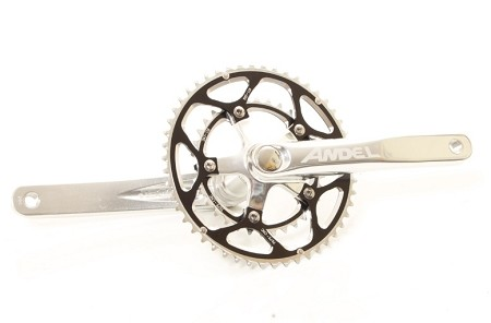 Andel Road bike crankset w/bb and Chainrings - 39/53