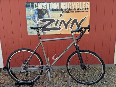 "Used Custom Zinn titanium Adventure Gravel Bike -  6'4""-6'8"" rider"