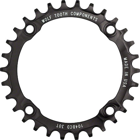 Wolftooth DropStop 104bcd Chainring - narrow wide 1x drivetrain